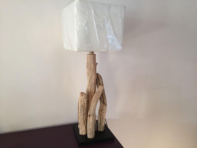 lampe bois flotte - lampe de table - espritrecupdeco06 - Fait Maison - tour a bois fait maison