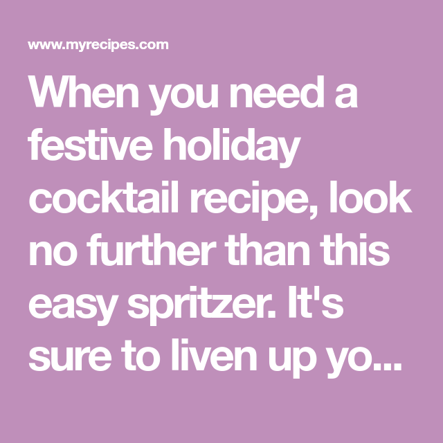 Rudolph's Tipsy Spritzer