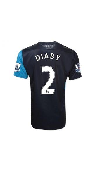 best website 6f78e b14ef Cheap 11/12 Arsenal Abou Diaby 2 Away football jersey ...