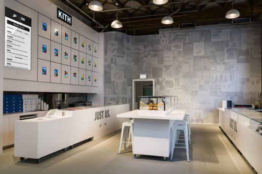 kith x nike nyc pop up store thedropnyc store interiors store rh pinterest com