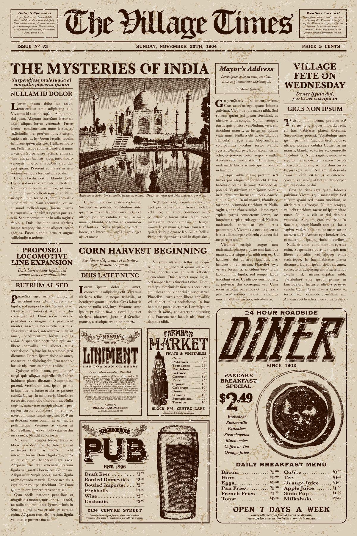 Old Newspaper Vintage Newspaper Old Newspaper Newspaper Background