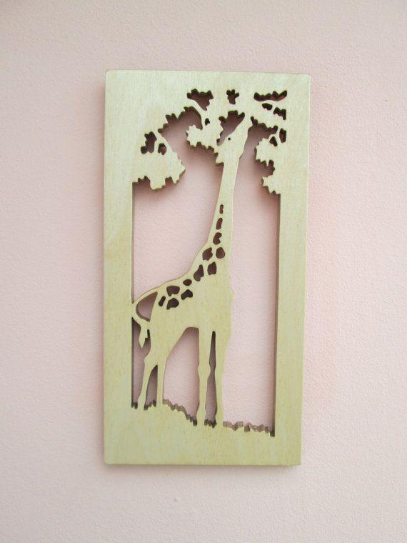 Wooden Giraffe - wall hanging - scroll saw -silhouette ...