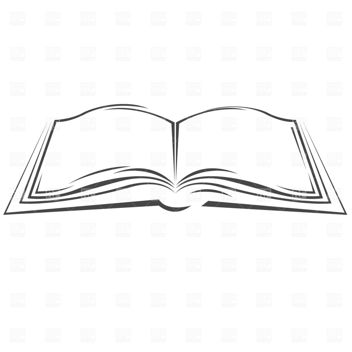 Symbolic Open Book Vector Image Vector Illustration Of Objects