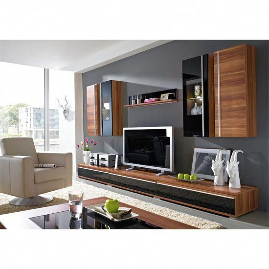 Freestyle Living Room Furniture Walnut Room Setting-4