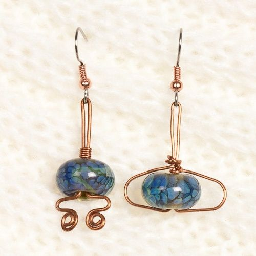 amazing handmade copper jewelry / I LUV THE IDEA OF TWO DIFFERENT ... - Go to StellarPieces.com for even more stunning jewelry!