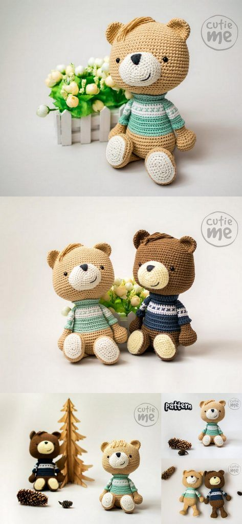 Crochet Teddy Bear Patterns - Amigurumi #crochetbear