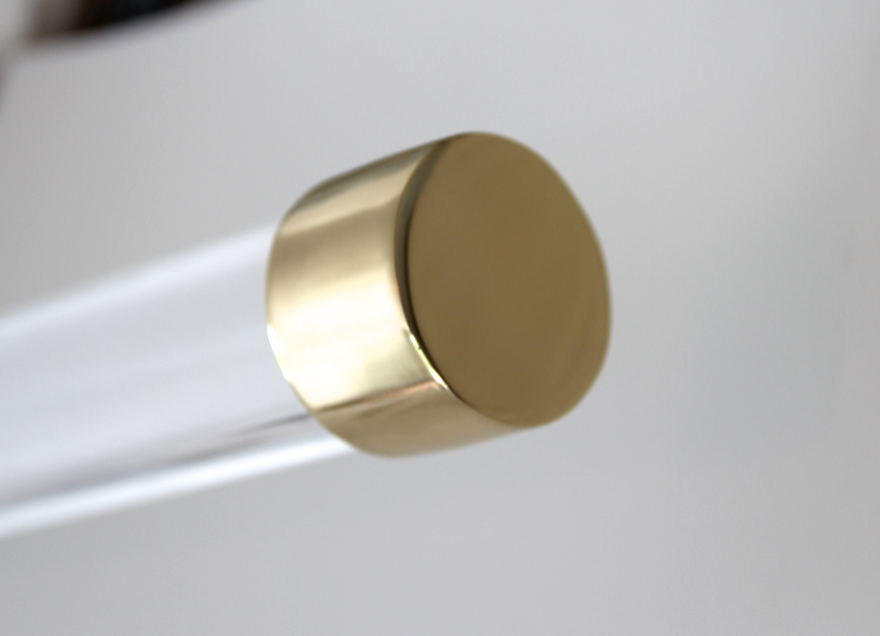 Brass End Cap Acrylic Curtain Rods Drapery Rods Curtain Rods