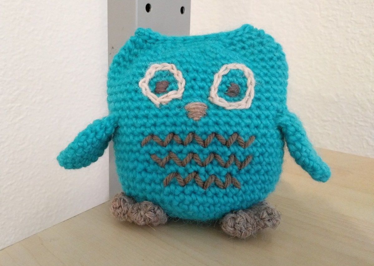 Aqua Owl by me now in shop and blog!