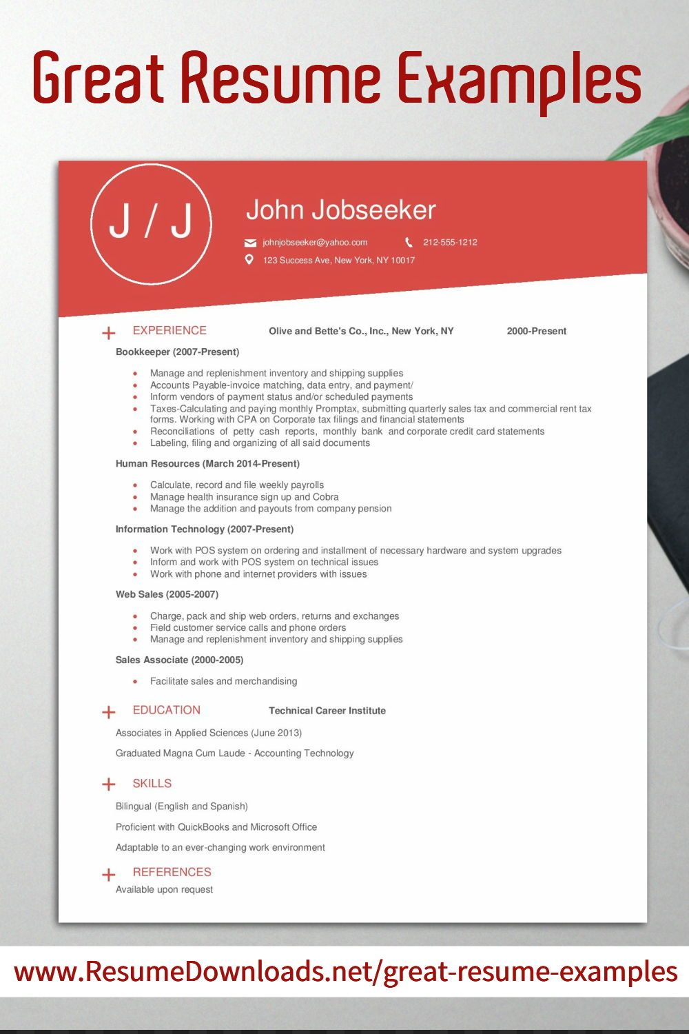 Pin By Resumedownloads Net On Resume Examples Professional Good