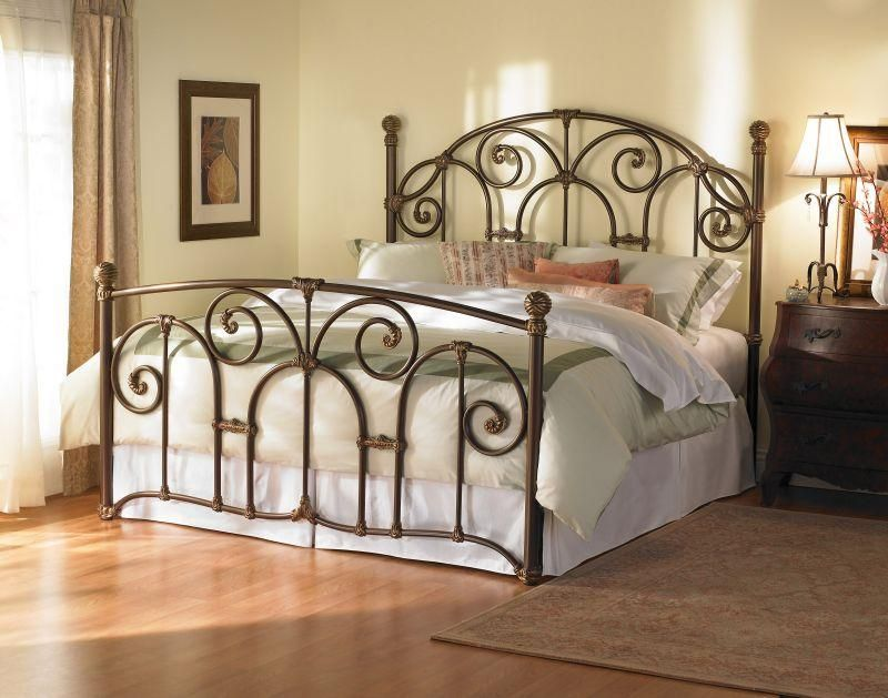 master bedroom bedrooms pinterest iron headboard wrought rh pinterest com