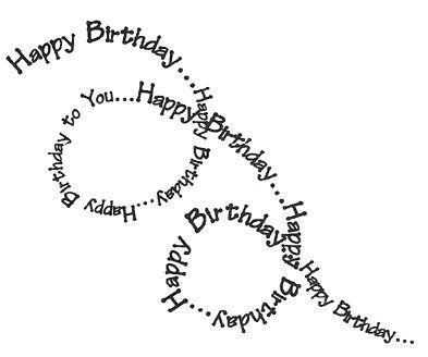 Afbeeldingsresultaat voor handletteren verjaardag man artwork of the heart tumbling happy birthday word stamp spiraling down happy birthday bookmarktalkfo Image collections