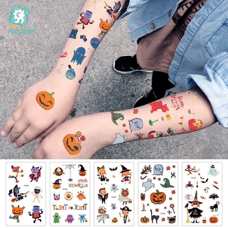 ca9950007eec7 Find More Temporary Tattoos Information about EC801 825 New 2019 Cartoon  Cute Kids Children Halloween Happy
