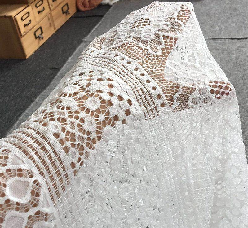 1 pc = 3 meters dress lace 1.5x3 meters 2020 Thick high-quality women lace blouse eyelash material french lace
