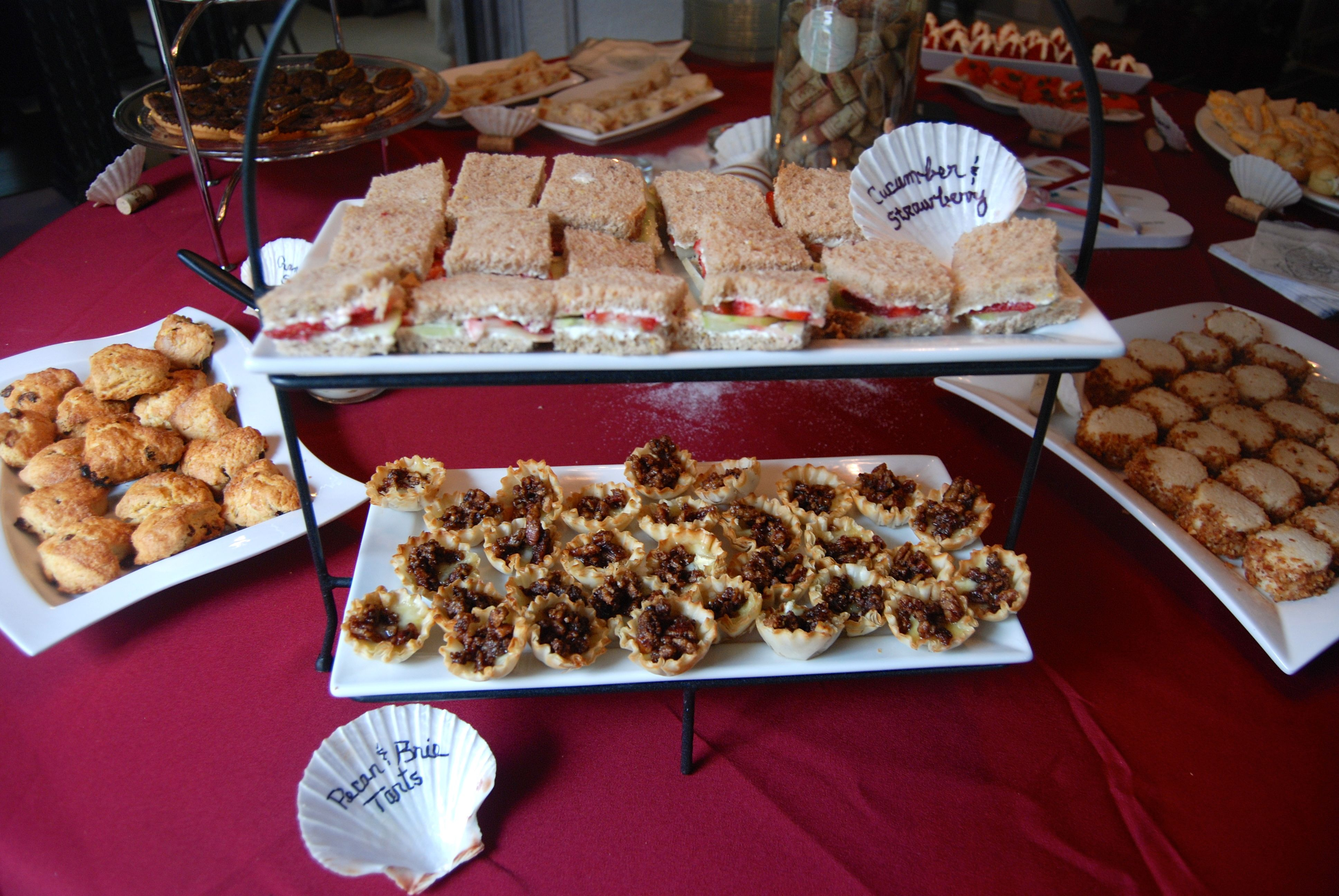 finger food ideas for bridal shower%0A Beach Theme Bridal Shower Cathy u    s Caterings