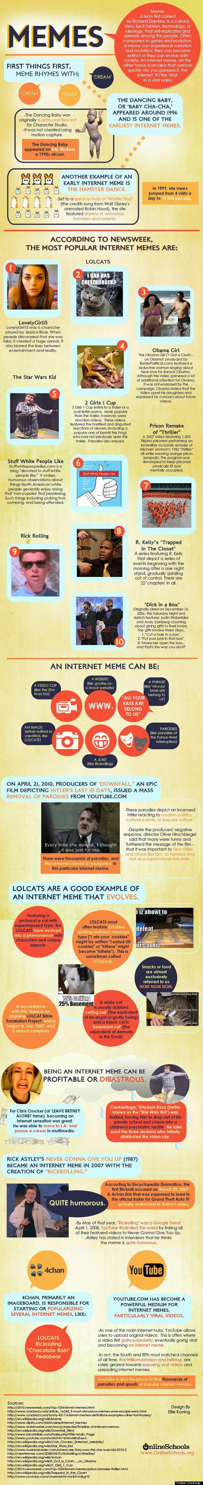 Internet Memes Infographic Internet Memes Social Media Infographic Infographic