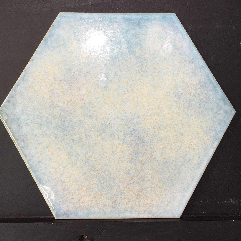 Scandinavian Interiordesign Colors: Pretty Blue Hexagon, Available @TILEjunket #geelongwest