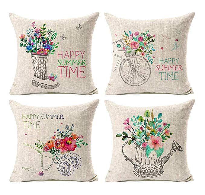 amazon com kithomer set of 4 farmhouse outdoor decorations throw rh in pinterest com