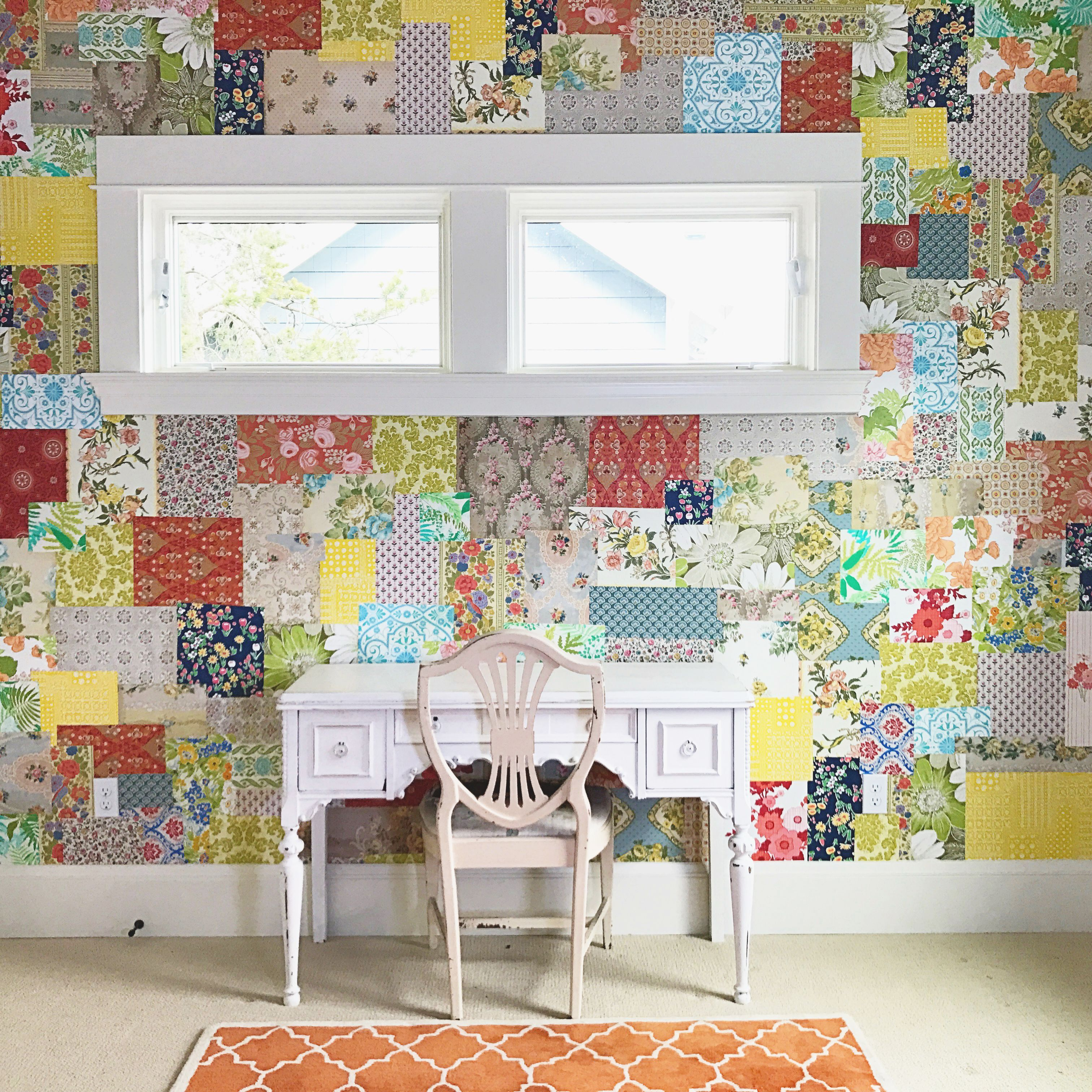 How To Make A Patchwork Wallpaper Wall Using Vintage Wallpapers  # Oohlala Muebles Y Accesorios Infantiles