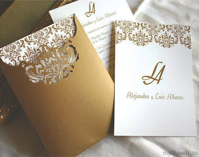 Laser cut pocket ornate india wedding indian wedding indian wedding invitations myshaadiindiawedding cardmarriage invitation stopboris Images