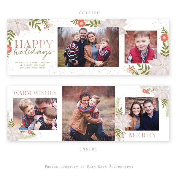Folded Cards Product Categories Holiday Photo Cards Template Christmas Card Design Folded Holiday Cards