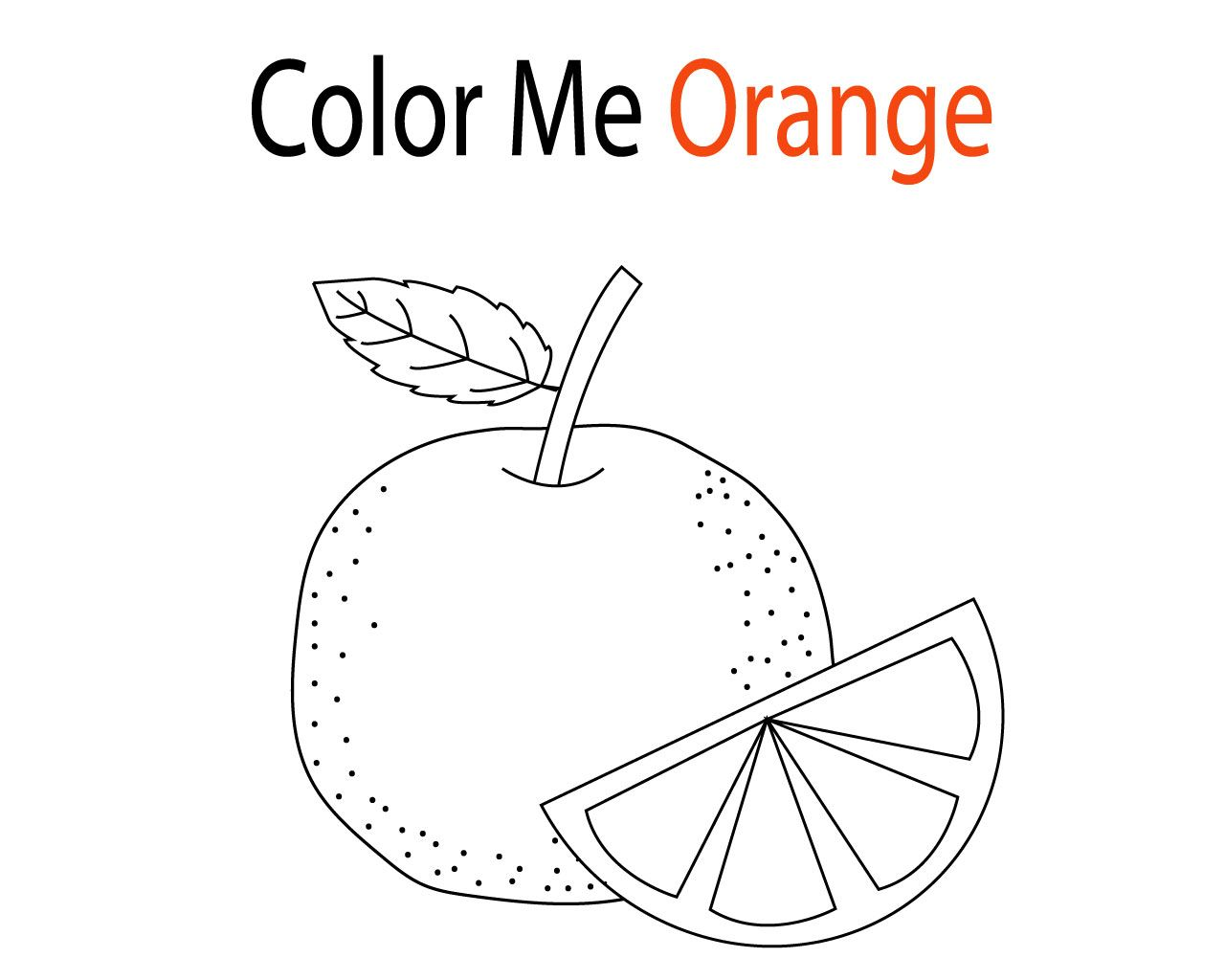 Orange Coloring Pages For Toddlers