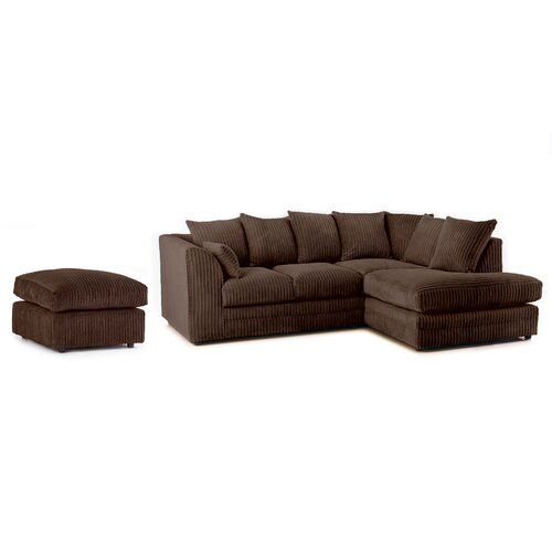 Moana Corner Sofa Zipcode Design Upholstery Colour Chocolate Orientation Right Hand Facing In 2020 Corner Sofa Sofa Upholstery