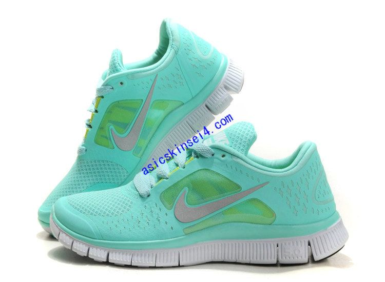 the best attitude db557 9266e Tiffany Blue Nikes Free Run 3 5.0 Pure Platinum Reflect Silver Aqua Chrome