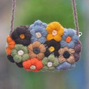 14 Best crochet puff flower images | Crochet bags, Crochet ...