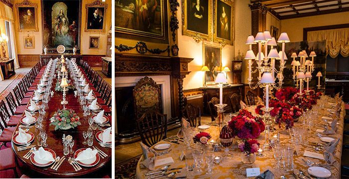 Pinkrystal Teodoro On Ideas  Pinterest Unique Highclere Castle Dining Room Inspiration Design