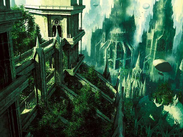 Image result for mtg ravnica lands art