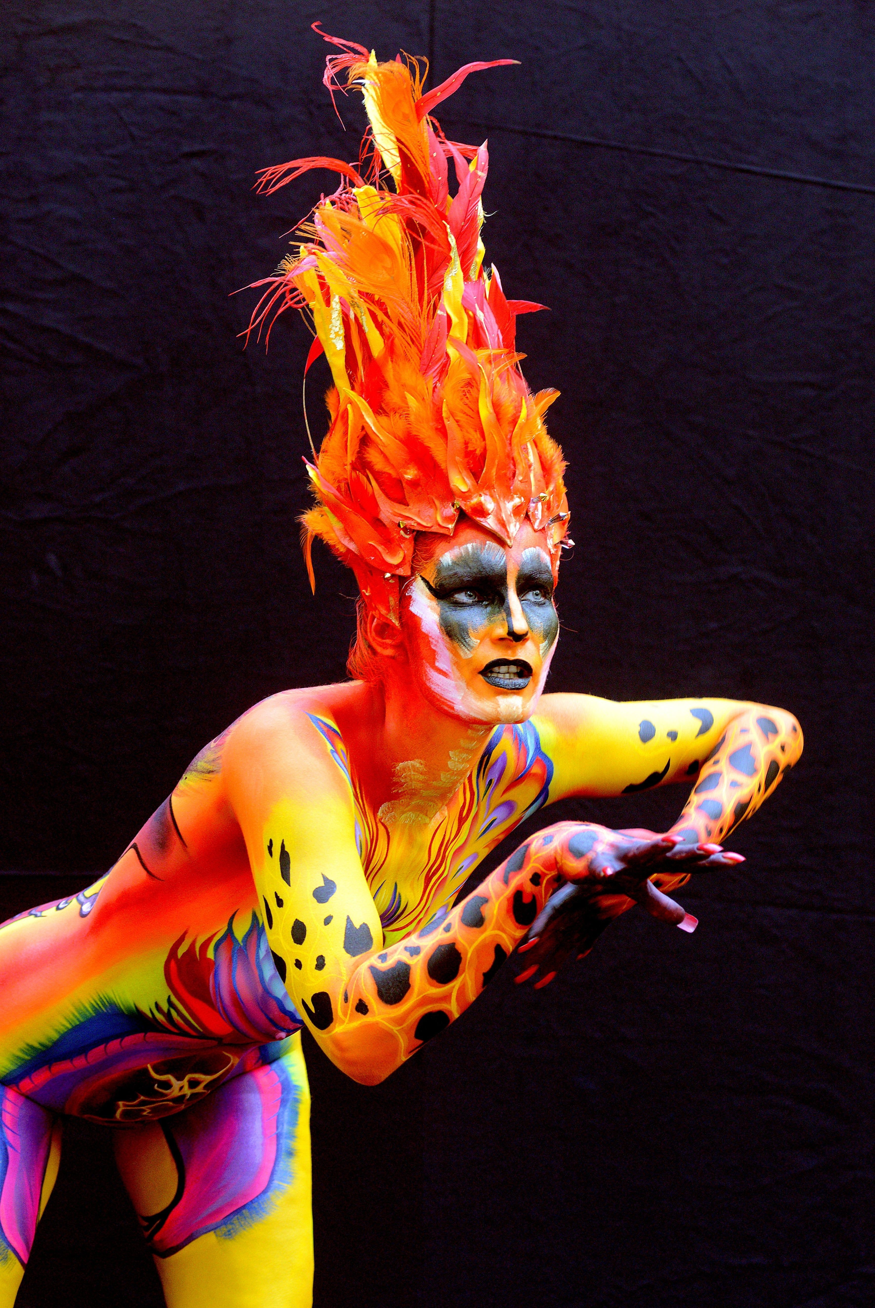 Body painting festival in austria in pictures