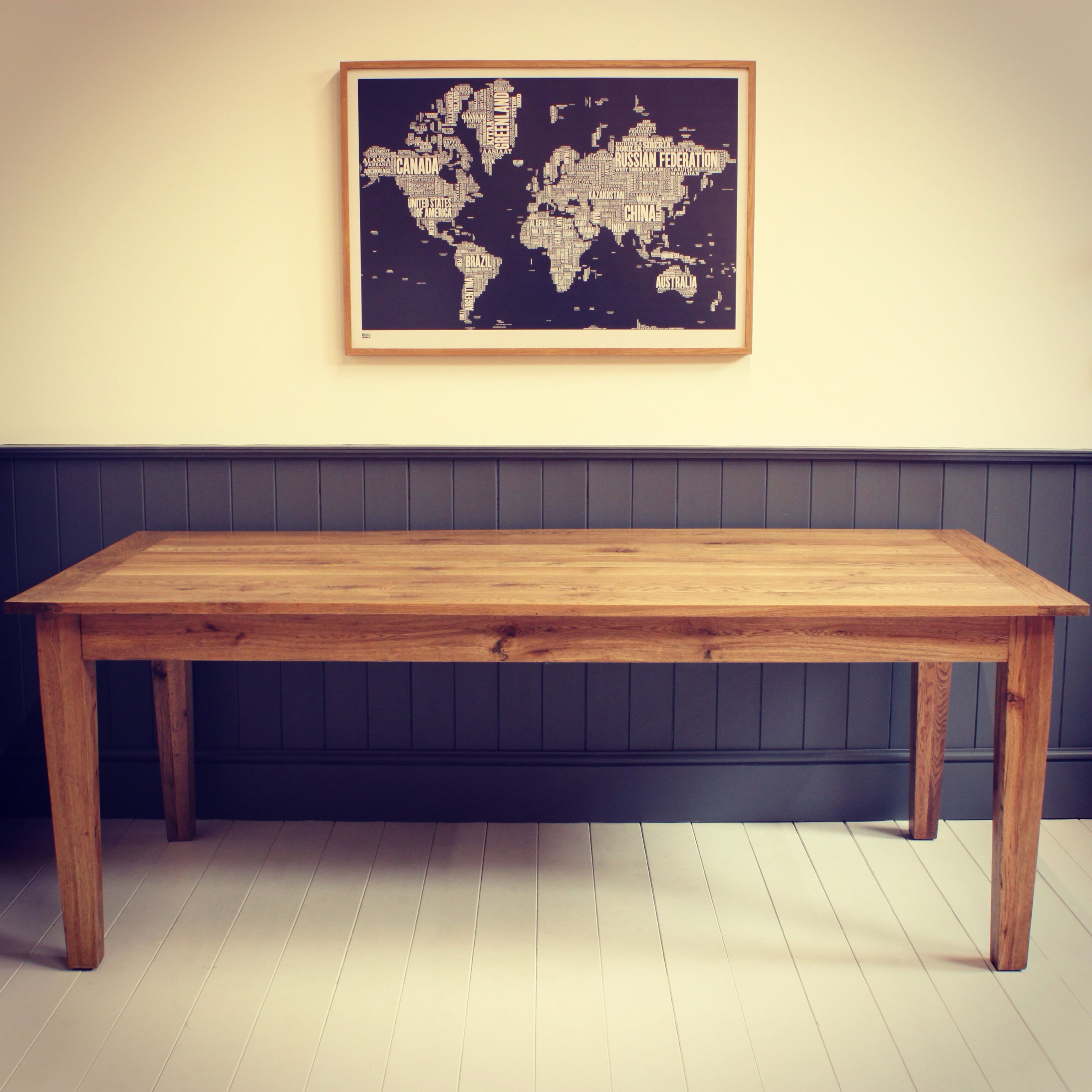Large Antique Oak Dining Table Seats 6-8 Dimensions Length