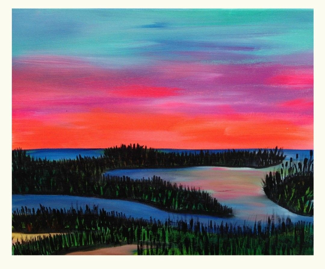 Pin By Alisha Graham On Craft Ideas Painting And Canvas Art Wine Painting Wine Paint Party Paint And Sip