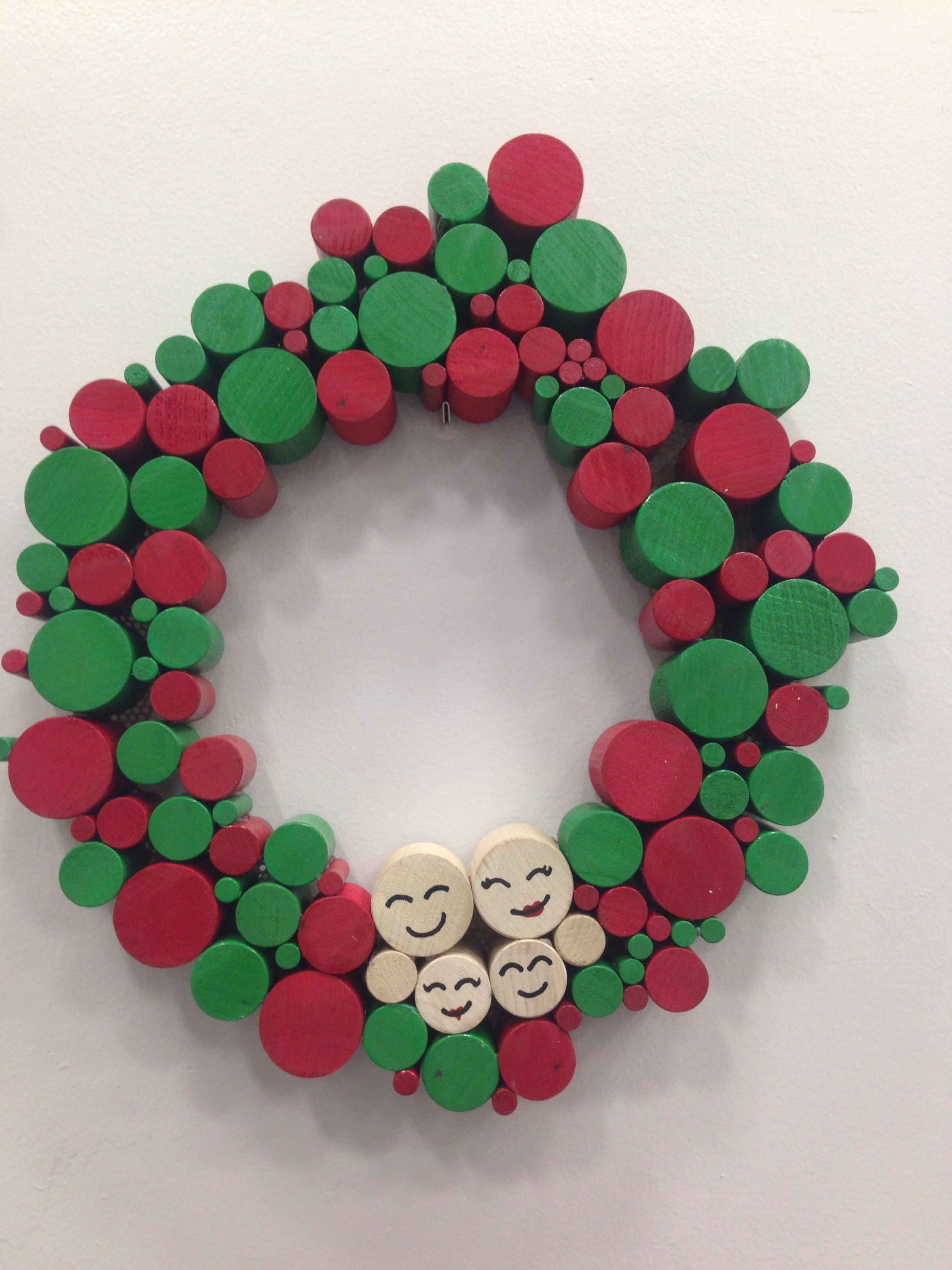 Wooden Dowel Christmas Wreath Httpwwwlowescomcreative