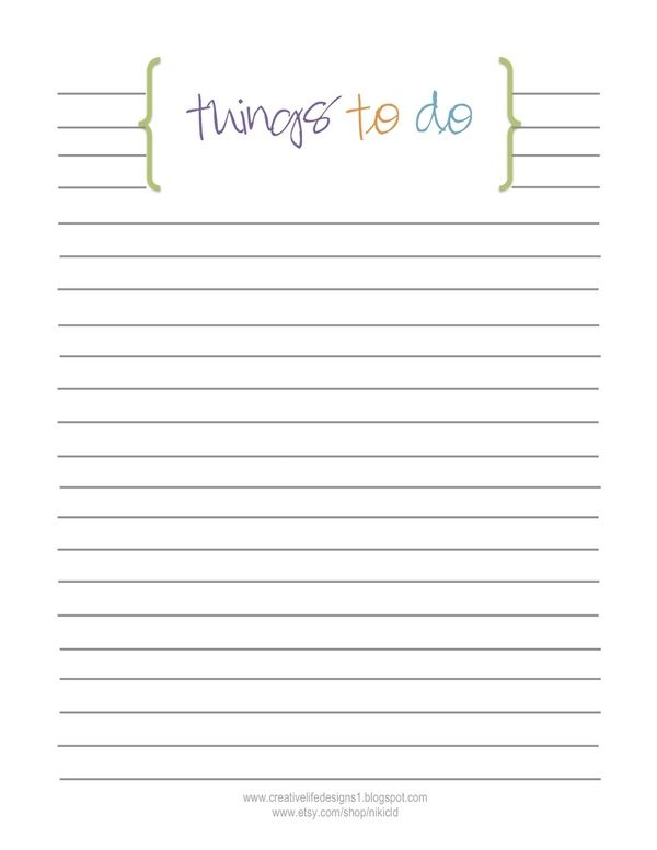 graphic regarding Printable Things to Do Lists titled Free of charge toward do checklist printable through inventive everyday living ideas Filofax
