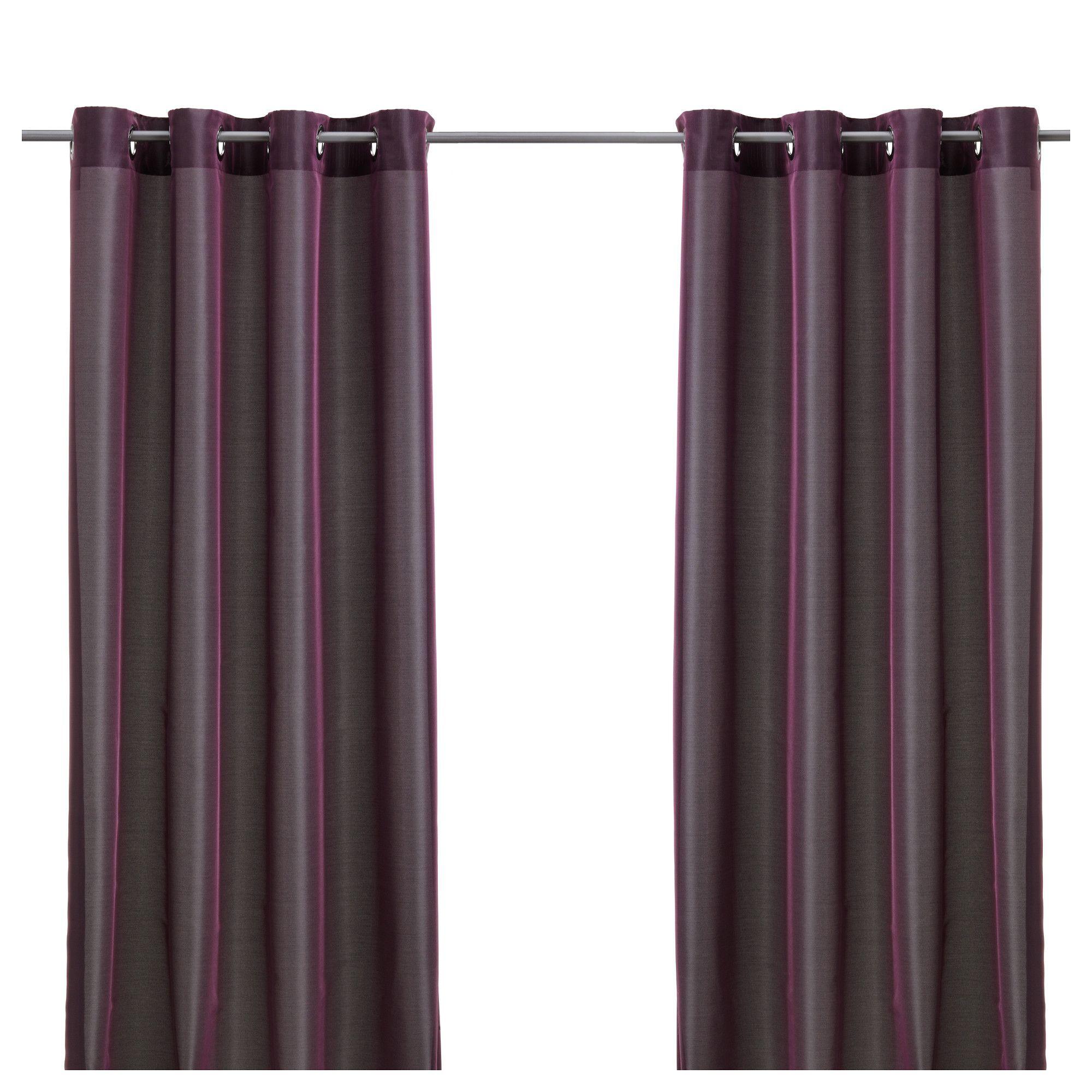 p rlbuske rideaux 1 paire ikea salle de sejour pinterest rideaux mobilier de salon y. Black Bedroom Furniture Sets. Home Design Ideas