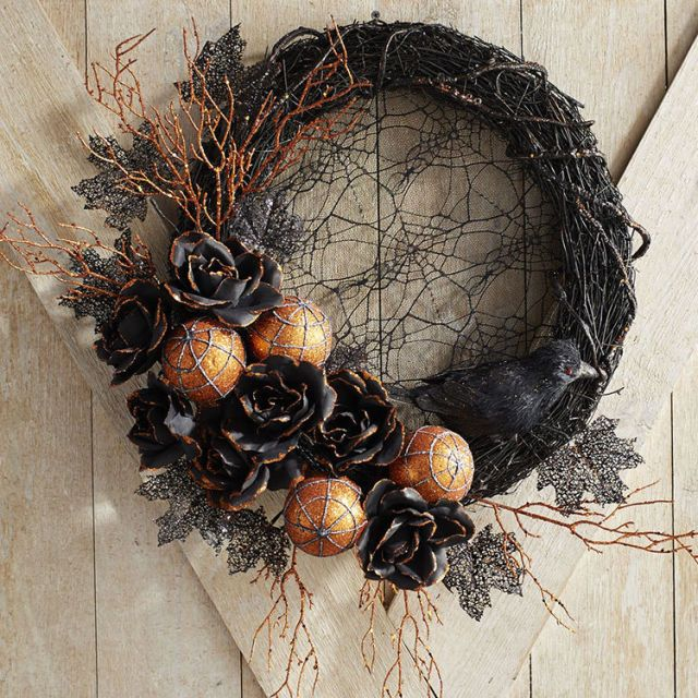 8 Halloween Wreaths For A Bewitching Front Door Display