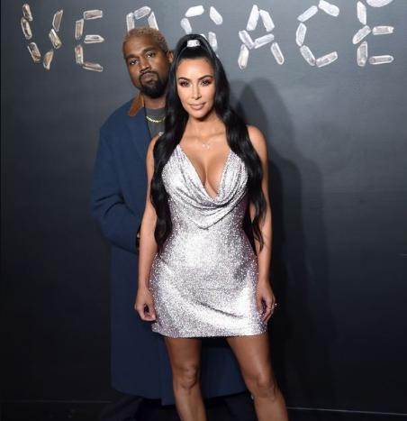 Kim Kardashian And Kanye West Steal The Show At Star Studded Versace Show Kim Kardashian And Kanye Westste Kim Kardashian And Kanye Kim Kardashian Kanye West