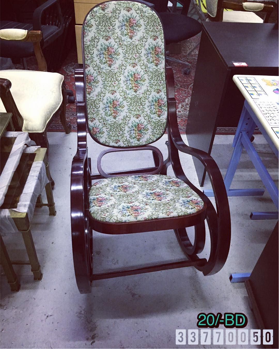 For Sale Rocking Wooden Chair Brown Color New Made In China Price 20 Bd للبيع كرسي خشب هزاز لون بني جديد صنع في ال Rocking Chair Chair Decor