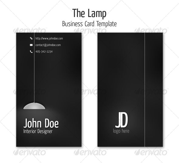 The Lamp Business Card Template  Card Templates Business Cards