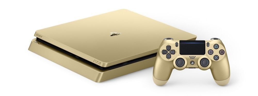 Sony Playstation 4 Slim Limited Edition 1tb Gold Console With