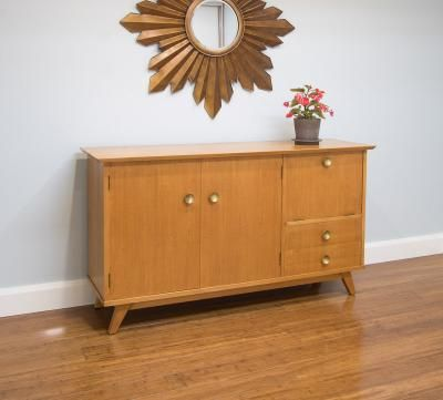 fabulous retro sideboard with drop front cocktail cabinet bar rh pinterest com