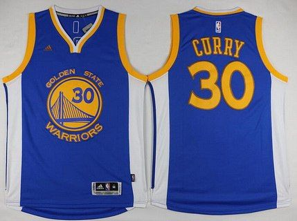 Men s Golden State Warriors  30 Stephen Curry Revolution 30 Swingman Blue  Championship Fashion Jersey 1a3b2a890
