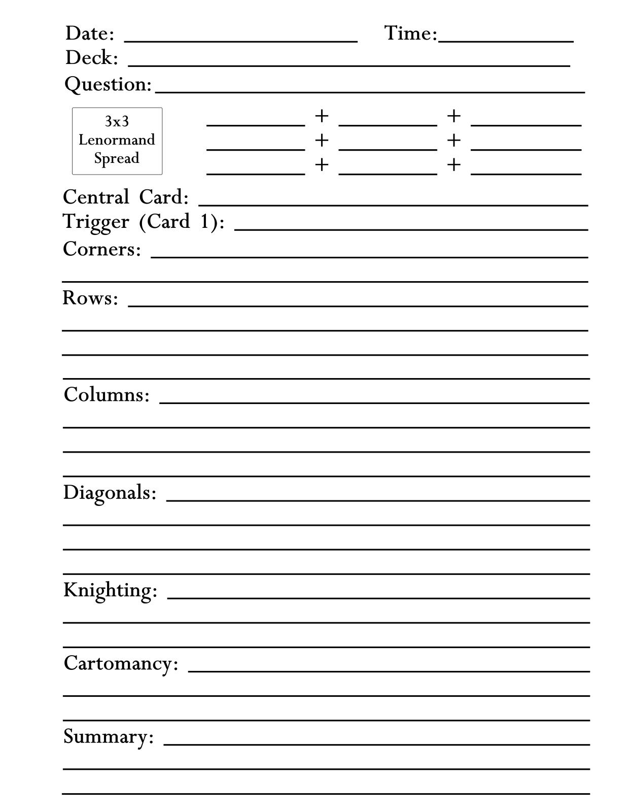 Fan image inside free printable tarot journal
