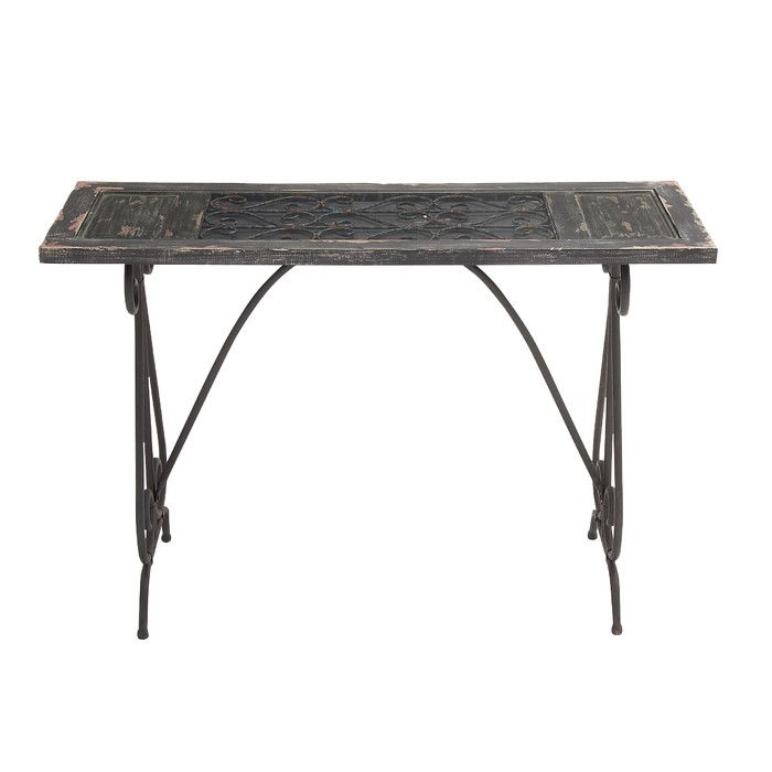 Woodland Imports Console Table Reviews Wayfair Metal
