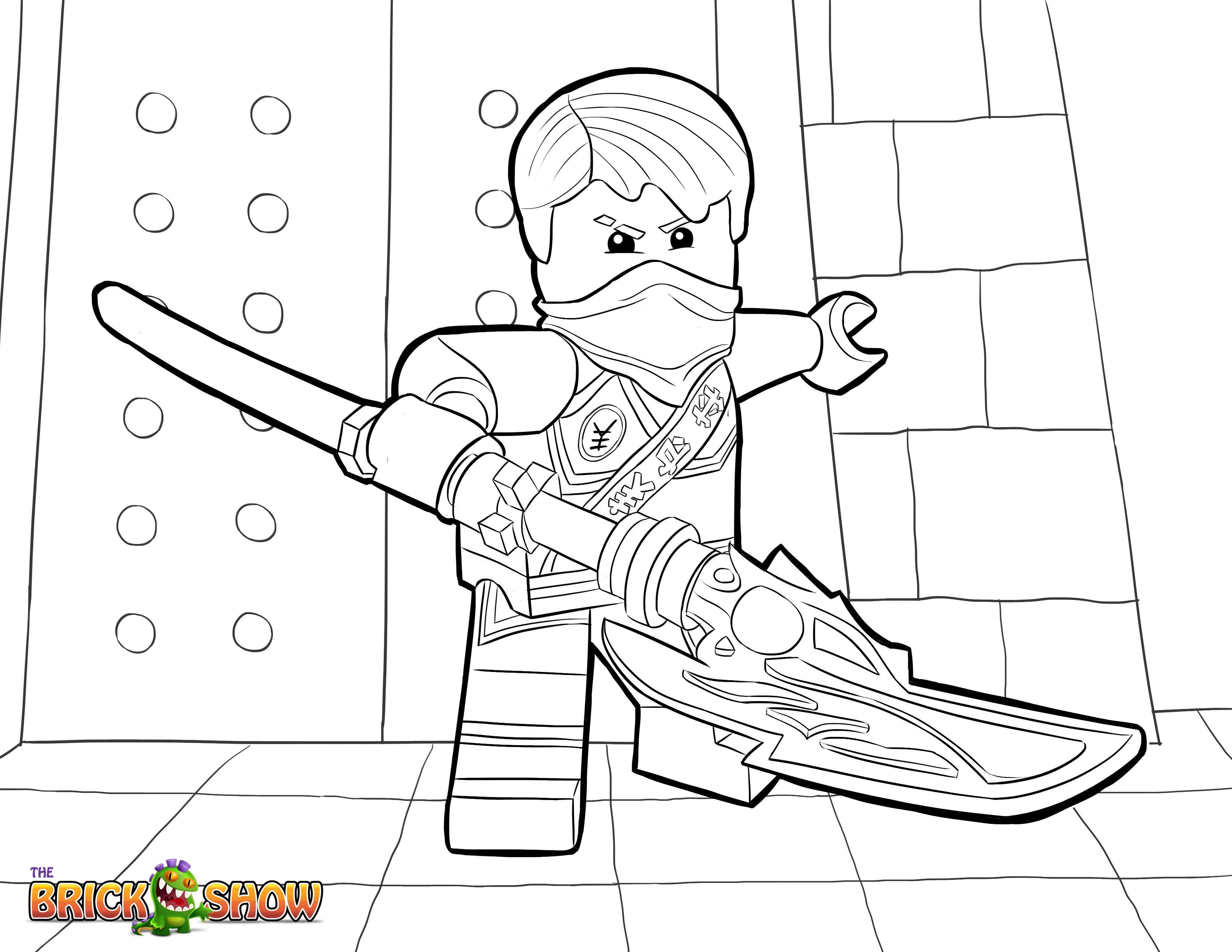 LEGO Ninjago Coloring Page, LEGO LEGO Ninjago Jay