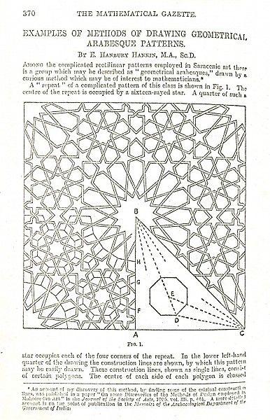 Pattern in Islamic Art - HAN 013