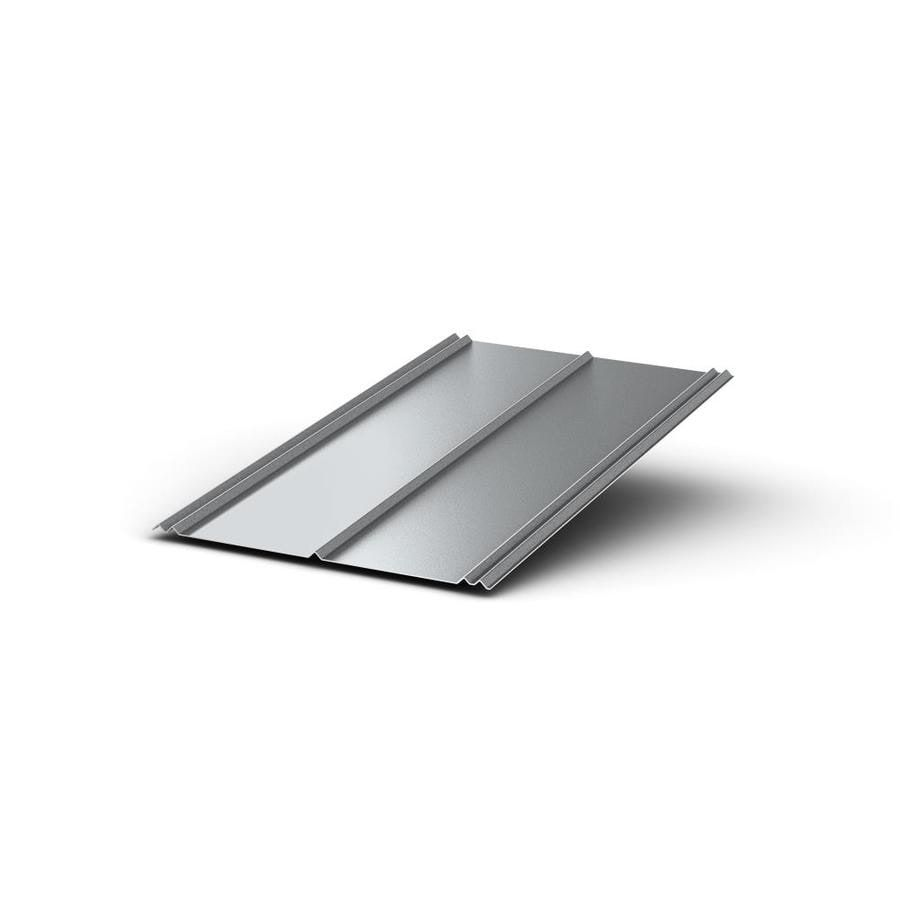 Union Corrugating 2 16 Ft X 8 Ft Ribbed Silver Steel Roof Panel Lowes Com In 2020 Steel Roof Panels Roof Panels Metal Roof