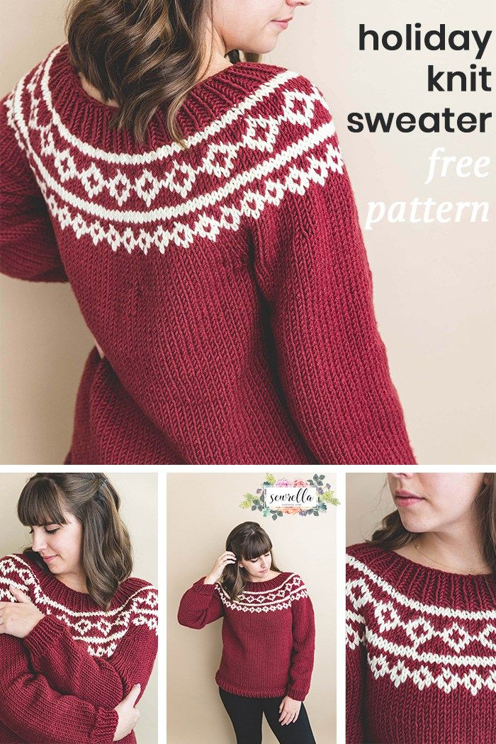 My First Holiday Knit Sweater | Sweater knitting patterns ...