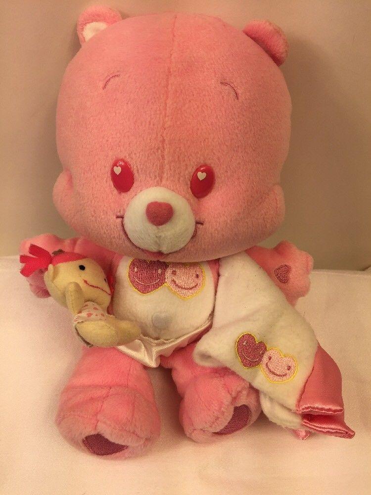 Care Bear Cubs Love A Lot Plush Cub Stuffed Animal Lovey 11 W